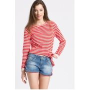 Кофта onlAMY L/S SHORT STRIPE KNOT SWT 15132543HighRiskRED ONLY