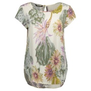 Блузка NOVA S/S TOP AOP WVN 15137461WhisperWhite ONLY