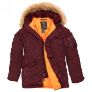 Куртка N-3B Slim Fit Parka Maroon Orange MJN31210C1-Maroon.O ALPHA INDUSTRIES