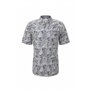 Поло ray slub holiday print shirt 1018652XX1023331 Tom Tailor