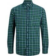 Рубашка JJPLAIN PRE CHECK SHIRT LS 12174061ForestNight Jack & Jones