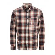 Рубашка JJPLAIN PRE CHECK SHIRT LS 12174061CloudDancer Jack & Jones