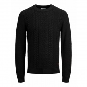 Кофта JJKIM KNIT CREW NECK 12173616 Black Jack & Jones
