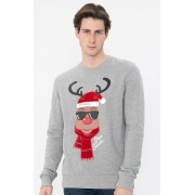 Кофта JORSNOWFALL SWEAT CREW NECK XMAS 12180332 Light Grey Jack & Jones