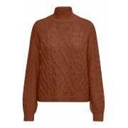 Кофта HIGHNECK PULLOVER KNT 15210792 Tortoise ONLY