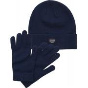 Набор шапка и перчатки JACBEANIE & GLOVE KNIT GIFT BOX 12168383 Navy Blazer Jack & Jones