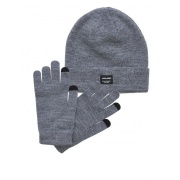 Набор шапка и перчатки JACBEANIE & GLOVE KNIT GIFT BOX 12168383 Grey Melange Jack & Jones