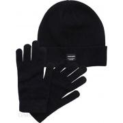 Набор шапка и перчатки JACBEANIE & GLOVE KNIT GIFT BOX 12168383 Black Jack & Jones