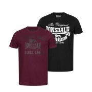Комплект з двох футболок TORBAY Double Pack 115086-1537 Black Oxblood Lonsdale