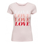 Футболка ONLLOVE LIFE FIT S/S TOP BOX JRS 15226018 Ballerina ONLY