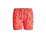 Шорти для плавання JJIBALI JJSWIMSHORTS AKM SAFARI 12184787 Hot Coral Jack & Jones