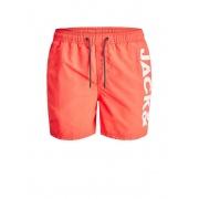Плавальні шорти JJIBALI JJSWIMSHORTS AKM LOGO STS 12183806 Hot Coral Jack & Jones