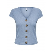 Блуза ONLNELLA S/S BUTTON TOP NOOS JRS 15181030 Faded Denim ONLY