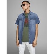 Сорочка JJESHERIDAN SHIRT S/S 12159371 Medium Blue Denim Jack & Jones