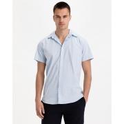 Сорочка JJCLINT SHIRT S/S SLIM FIT 12163646 Cashmere Blue Jack & Jones