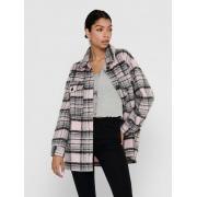 Куртка ONLROSIE CHECK OVERSIZED SHACKET OTW 15235611 Lilac Sachet ONLY