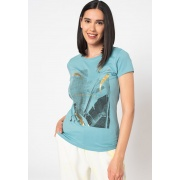 Футболка ONLMACY LIFE FIT S/S FOIL TOP BOX JRS 15229224 Dusty Turquois ONLY