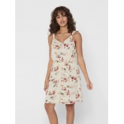 Сукня ONLKARMEN S/L SHORT DRESS AOP WVN NOOS 15157655 Creme Brûlée-ROSE FLOWERS ONLY