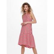 Сукня ONLFIONA LIFE S/L DRESS JRS 15230776 Cloud Dancer-HIGH RISK RED ONLY