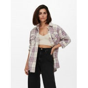 Куртка-сорочка ONLVALENTINA L/S CHECK SHACKET OTW 15239157 Cloud Dancer-CHECK ONLY