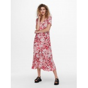 Сукня ONLENOLA S/S MIDI DRESS  WVN 15230958 High Risk Red-CRUISE FLORAL ONLY