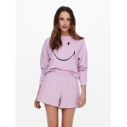 Толстовка ONLSMILEY LIFE L/S SWT 15232823 Orchid Bloom-SMILEY ONLY