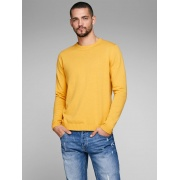 Пуловер JJEBASIC KNIT CREW NECK NOOS 12137190-Golden Orange Jack & Jones