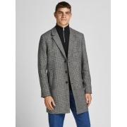 Пальто JJEMOULDER WOOL COAT SN 12171374-Light Grey Melange-Checks Jack & Jones