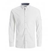 Сорочка JJJUSTIN DETAIL SHIRT LS 12188948-Bright White-Fit:SLIM Jack & Jones