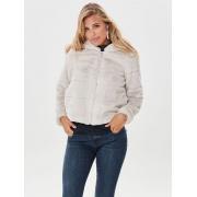 Куртка ONLCHRIS FUR  HOODED JACKET CC OTW 15156560-Pumice Stone ONLY