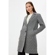 Пальто ONLAGNETE  ASTRID CHECK COAT CC OTW 15228610-Black-Checks: PUMICE STONE ONLY