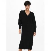 Сукня ONLNEW TESSA L/S MIDI V-NECK DRESS KNT 15236372-Black ONLY