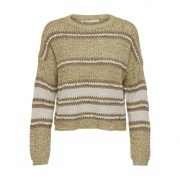 Пуловер ONLINA L/S PULLOVER CC KNT 15229820-Mellow Yellow-Detail:W. PUMICE STONE / TO ONLY