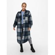 Пальто ONLANDREA X-LONG SHACKET CC OTW 15230329-Blue Graphite-Detail:LGM + CAMPANULA + HO ONLY