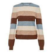 Пуловер ONLKATIA L/S STRIPE PULLOVER CC KNT 15231260-Pearl Blue-Stripes:W. MEL. W. PUMICE STON ONLY