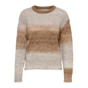 Пуловер ONLGRACE LIFE L/S PULLOVER EX KNT 15231323-Toasted Coconut-Detail:W. MELANGE ONLY
