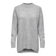 Пуловер ONLSILJA L/S LOOSE PULLOVER CC KNT 15231369-Light Grey Melange ONLY