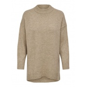 Пуловер ONLSILJA L/S LOOSE PULLOVER CC KNT 15231369-Toasted Coconut-Detail:W. MELANGE ONLY