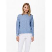 Пуловер ONLGABI LIFE L/S O-NECK PULLOVER CC KNT 15231424-Cashmere Blue-Detail:W. MELANGE ONLY