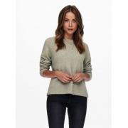 Пуловер ONLGABI LIFE L/S O-NECK PULLOVER CC KNT 15231424-Kalamata-Detail:W. MELANGE ONLY