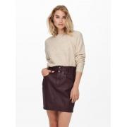 Пуловер ONLGABI LIFE L/S O-NECK PULLOVER CC KNT 15231424-Pumice Stone-Detail:W. MELANGE ONLY