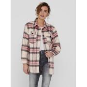 Куртка ONLDEENA-KAWI L/S CHECK SHACKET PNT 15235844-Flamingo Pink-Checks:Mojave Desert/ Night ONLY