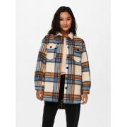 Куртка ONLDEENA-KAWI L/S CHECK SHACKET PNT 15235844-Oatmeal-Checks:Ariabian Spice/Honey Musta ONLY