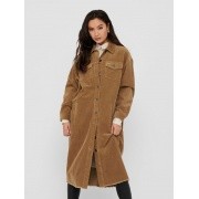 Сорочка ONLBITTEN LIFE CORD LONG SHIRT PNT 15235871-Toasted Coconut ONLY