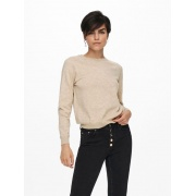 Пуловер ONLYOUNGER L/S PULLOVER KNT 15238340-Humus-Detail:W. MELANGE ONLY