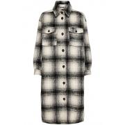 Пальто ONLLOU LONG CHECK SHACKET OTW 15238541-Pumice Stone-Checks:BLACK ONLY